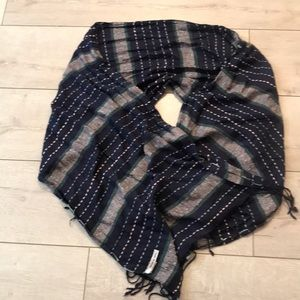 Michael Stars scarf RN#11930 blue soft long style